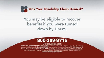 Sokolove Law TV Spot, 'Disability Claim Denied' - Thumbnail 2