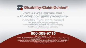 Sokolove Law TV Spot, 'Disability Claim Denied' - Thumbnail 3