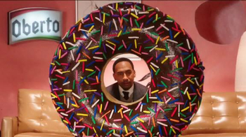 Oberto Beef Jerky TV Spot, \'Doughnut\' Featuring Stephen A. Smith