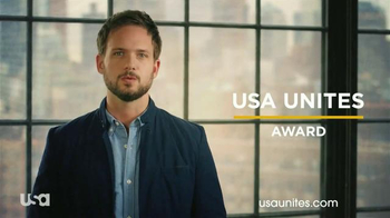 USA Unites Award TV Spot, 'Unsung Heroes' Featuring Patrick J. Adams - 39 commercial airings
