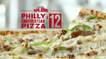 Papa John's Philly Cheesesteak Pizza TV Spot, 'It's Back' - 1544 commercial airings