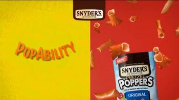 Snyder's of Hanover Pretzel Poppers TV Spot ,'Popability'