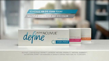 1-Day ACUVUE Define Brand Contact Lenses TV Spot, 'Enhance Your Eyes' - Thumbnail 9