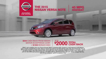 2015 Nissan Versa Note TV Spot, 'Check Out the New Models Now' - Thumbnail 8