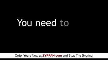 Zyppah TV Spot, 'Stop the Loud Snoring' - Thumbnail 4