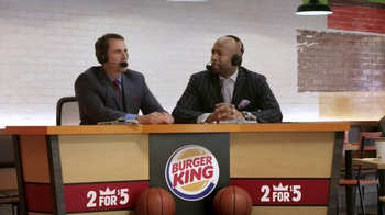 Burger King TV Spot, 'Sound Order' Featuring Seth Davis and Kenny Smith - Thumbnail 1
