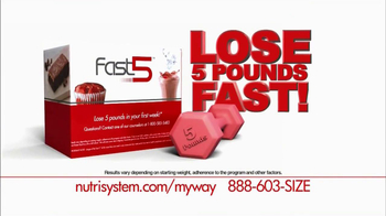 Nutrisystem Fasr 5 TV Spot, 'Diet Change'
