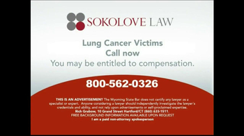 Sokolove Law TV Spot, 'Lung Cancer' - Thumbnail 10