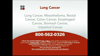 Sokolove Law TV Spot, 'Lung Cancer' - Thumbnail 3