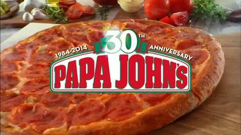 Papa John's 30th Anniversary TV Spot, 'Large One Topping 30¢' - 2027 commercial airings