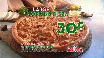 Papa John's 30th Anniversary TV Spot, 'Large One Topping 30¢' - Thumbnail 10