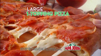 Papa John's 30th Anniversary TV Spot, 'Large One Topping 30¢' - Thumbnail 6