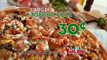 Papa John's 30th Anniversary TV Spot, 'Large One Topping 30¢' - Thumbnail 7