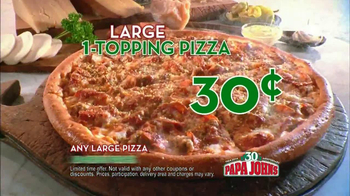 Papa John's 30th Anniversary TV Spot, 'Large One Topping 30¢' - Thumbnail 9