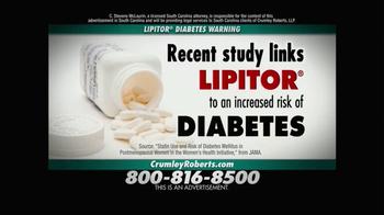 Crumley Roberts TV Spot, 'Lipitor Diabetes Warning'