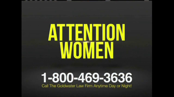 Goldwater Law Firm TV Spot, 'Ovarian Cancer' - Thumbnail 1
