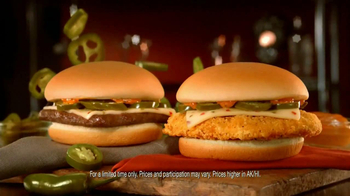 Wendy's Spicy Chipotle Jr. Cheeseburger and Crispy Chicken TV Spot - Thumbnail 8