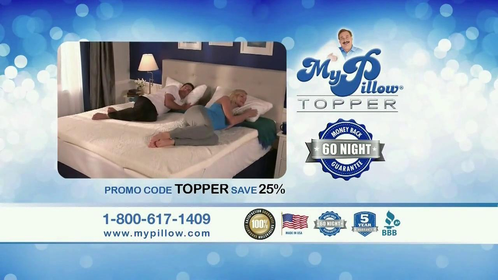 My Pillow Topper Tv Commercial Hot And Cold Ispot Tv