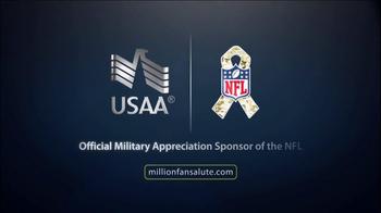 USAA TV Spot, 'MIllion Fan Salute' - Thumbnail 10