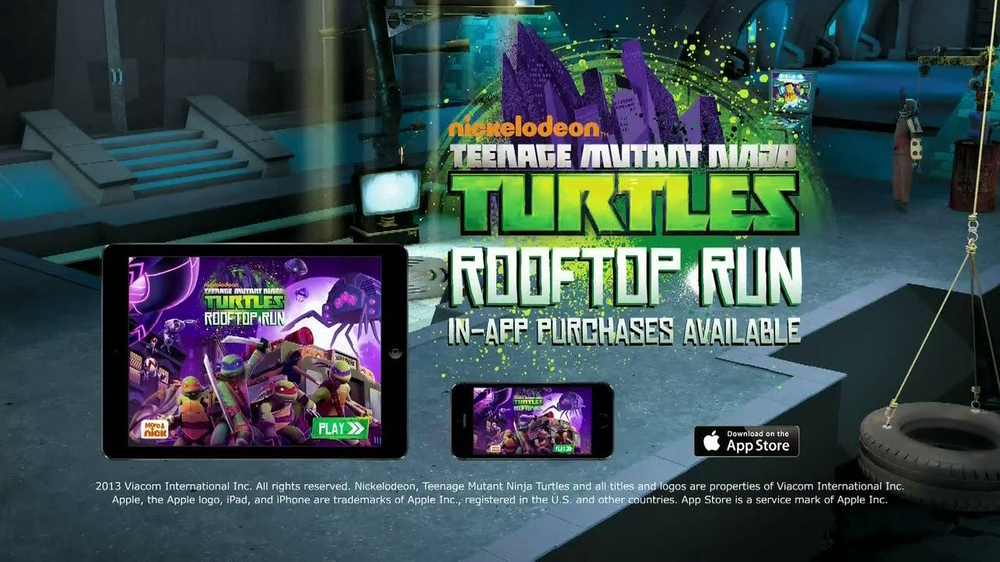 Nickelodeon Tmnt Rooftop Run Mobile App Tv Spot Ispot Tv