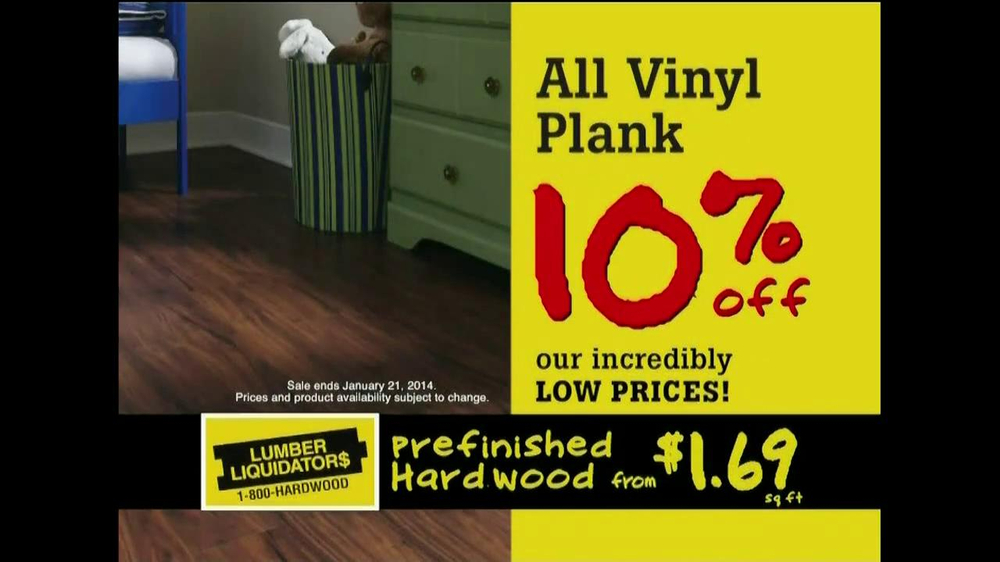Lumber Liquidators Laminate Vinyl Plank Flooring Sale Tv Spot