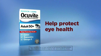 Bausch + Lomb Ocuvite Adult 50+ TV Spot, \'Unique Eyes\'