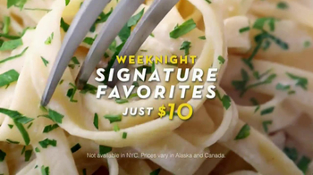 Olive Garden Weeknight Signature Favorites TV Spot, Song by Tim Myers - Thumbnail 3