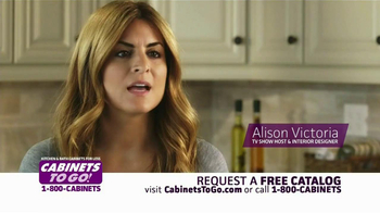 Cabinets To Go TV Spot  Featuring Alison Victoria - Thumbnail 1