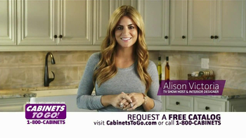 Cabinets To Go TV Spot  Featuring Alison Victoria
