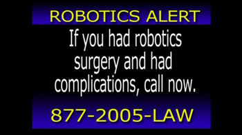 The Hollis Law Firm TV Spot, 'Robotics Alert'