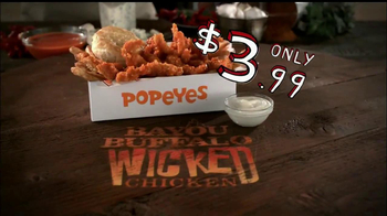 Popeyes Bayou Buffalo Wicked Chicken TV Spot - 1072 commercial airings