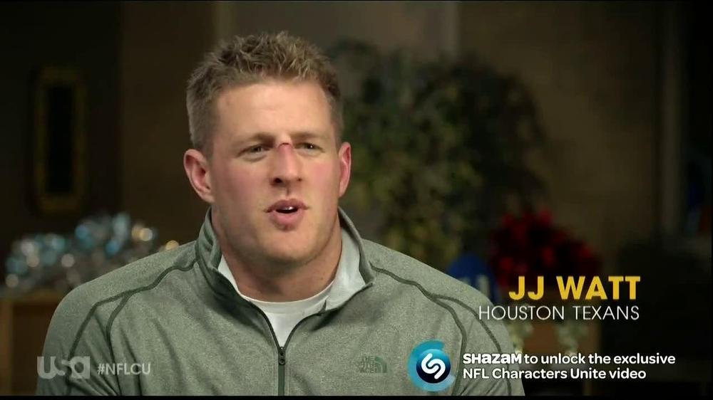 USA Network TV Commercial, 'Characters Unite: Football' Featuring J.J. Watt
