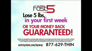 Nutrisystem My Way TV Spot, 'Fast 5 Free' Ft Marie Osmond - 874 commercial airings
