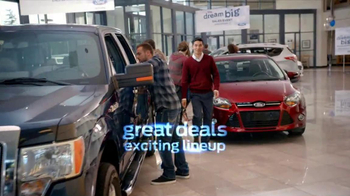 Ford Dream Big Sales Event TV Spot, 'Showroom' - Thumbnail 1