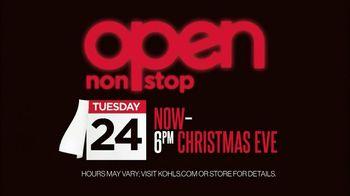 Kohl's TV Spot, 'Open Nonstop' - 484 commercial airings