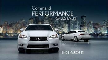 Lexus Command Performance Sales Event  TV Spot, 'Power' - Thumbnail 10