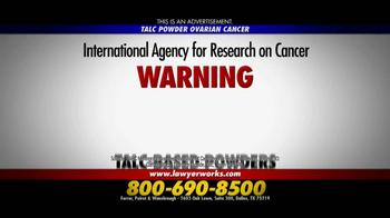 Ferrer, Poirot and Wansbrough TV Spot, 'Talc Powder Ovarian Cancer' - Thumbnail 3
