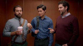 Dunkin' Donuts Eggs Benedict Breakfast Sandwich TV Spot, 'Elevator'