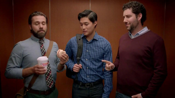 Dunkin' Donuts Eggs Benedict Breakfast Sandwich TV Spot, 'Elevator' - 187 commercial airings