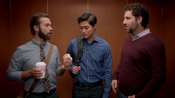 Dunkin' Donuts Eggs Benedict Breakfast Sandwich TV Spot, 'Elevator' - Thumbnail 6
