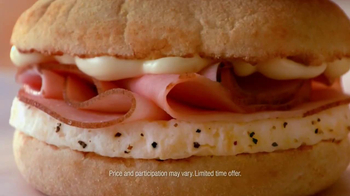 Dunkin' Donuts Eggs Benedict Breakfast Sandwich TV Spot, 'Elevator' - Thumbnail 9