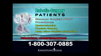 Knightline Legal TV Spot, \'Robot Surgery\'