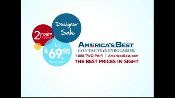 America's Best Contacts and Eyeglasses TV Spot, 'Designer Frames' - Thumbnail 10