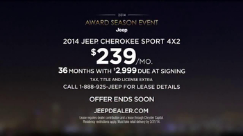 Jeep Award Season Event TV Spot - Thumbnail 8