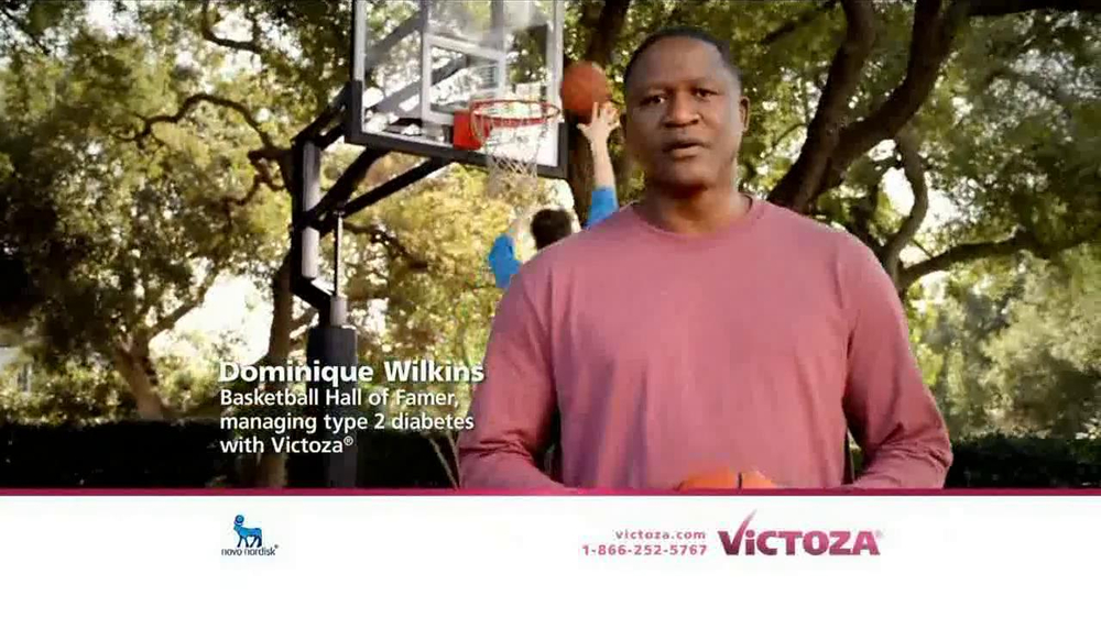 Victoza TV Commercial Featuring Dominique Wilkins