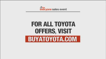 Toyota #1 For Everyone Sales Event TV Spot Featuring Matt Kenseth - Thumbnail 8