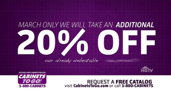 Cabinets To Go TV Spot, 'March is the Month'