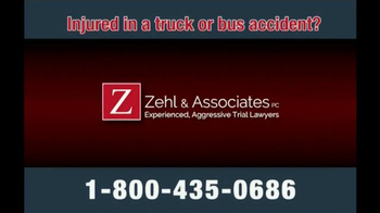 Zehl & Associates TV Spot, 'Truck or Bus Accident Injury' - Thumbnail 1