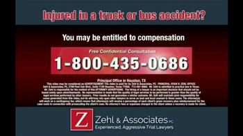 Zehl & Associates TV Spot, 'Truck or Bus Accident Injury' - Thumbnail 10