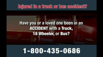 Zehl & Associates TV Spot, 'Truck or Bus Accident Injury' - Thumbnail 2